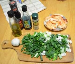 Рецепта за Скариди по тайландски стъпка 1