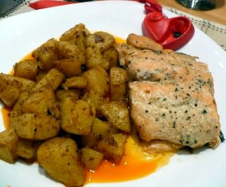 Сьомга с медена горчица