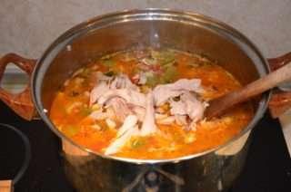 Рецепта за Пиле със зеленчуци стъпка 6