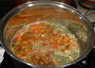 Рецепта за Спаначена крем супа стъпка 2