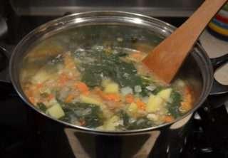 Рецепта за Спаначена крем супа стъпка 5