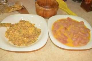 Рецепта за Зелена салата с пилешки филенца стъпка 2