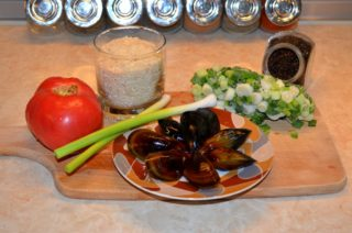 Рецепта за Миди с ориз стъпка 1