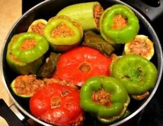 Рецепта за Долма – пълнени зеленчуци с месо стъпка 4