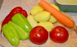 Рецепта за Зеленчуци на фурна стъпка 1
