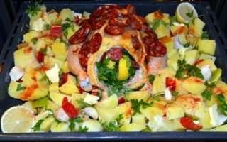 Рецепта за Печено пиле с чоризо стъпка 3
