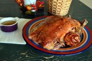Рецепта за Печена патица с бекон в плик стъпка 5