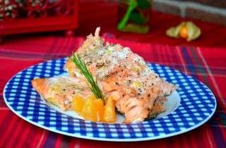 Рецепта за Сьомга на фурна с хрян, мандарина и розмарин стъпка 2
