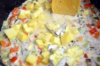Рецепта за Макарони със зеленчуци и сирене стъпка 4